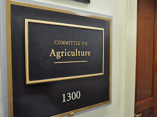 The hearing room for the House Agriculture Committee in Washington, D.C. The committee held an on-line markup of nearly $66 billion in funding that will go into the House reconciliation package, known as the Build Back Better Act. Democrats on the committee agreed with Republicans that they oppose tax increases on farmers, but they would not vote with Republicans on those amendments. (DTN file photo)