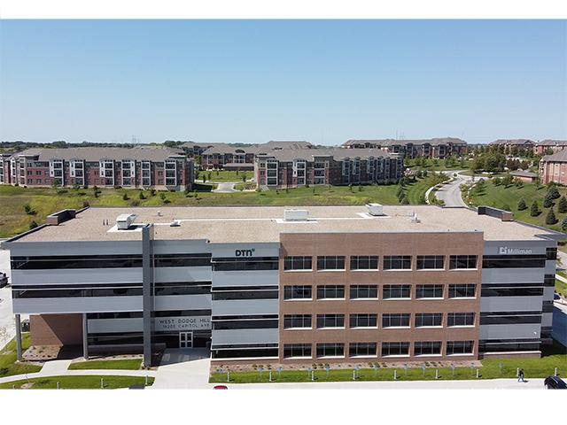 An aerial view of DTN's new office building in west Omaha, Nebraska. (DTN photo)