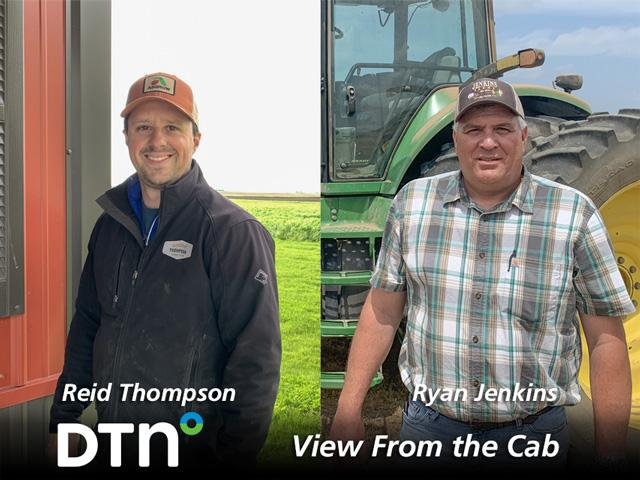 Farmers Reid Thompson of Colfax, Illinois, and Ryan Jenkins, of Jay, Florida, reported on crop conditions and agricultural topics throughout the 2020 growing season as part of DTN's View From the Cab series. (Photos courtesy of Reid Thompson and Ryan Jenkins)