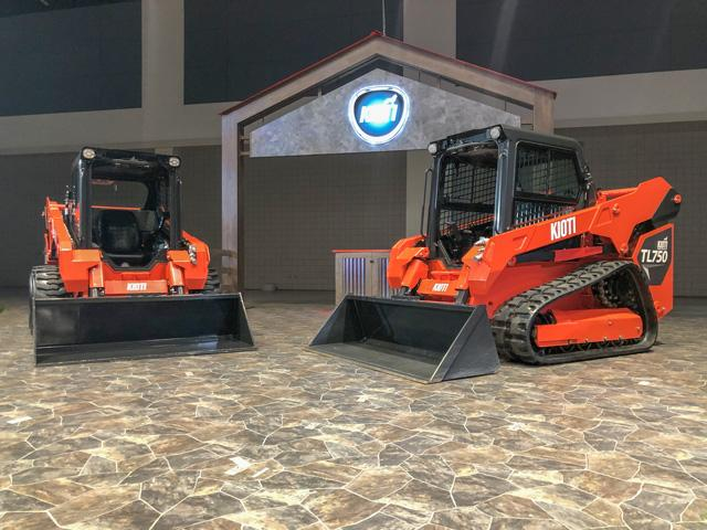 KIOTI introduced a new line of compact track loaders this week during its virtual dealer meeting. (Photo courtesy of KIOTI)