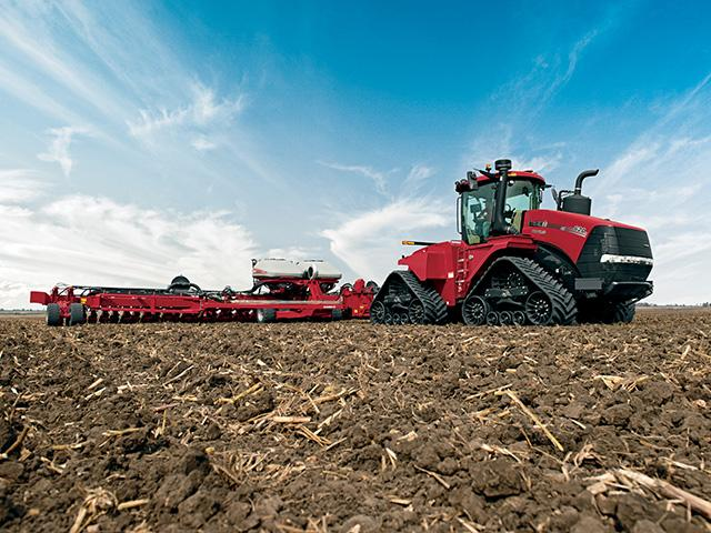 While most tractor sales categories rose last month, unit sales of the largest tractors fell only slightly. (Photo courtesy of Case-IH)