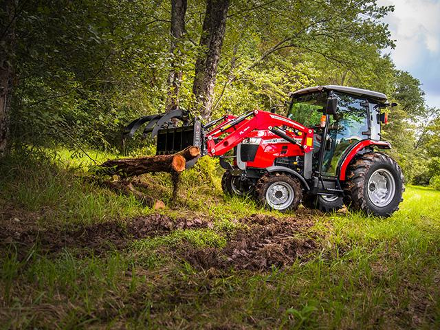 Consumers have purchased more than 200,000 tractors, 100 hp and below tractors through September. That's 16% more than in the same period in 2019. Shown here is Massey Ferguson's new 60 hp 2860M tractor with cab and grapple.