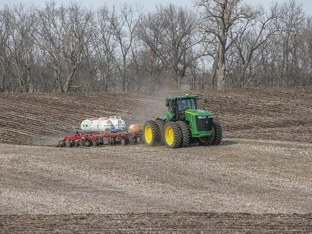 Anhydrous safety measures need to be stringent and thoughtful whether applying in fall or spring. (DTN photo by Pamela Smith)