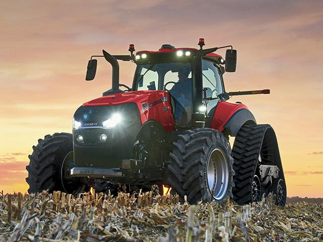 Sales of large tractors fell by a third in June, from June 2019. But that reversal was not seen as catastrophic. (Photo courtesy of Case-IH)