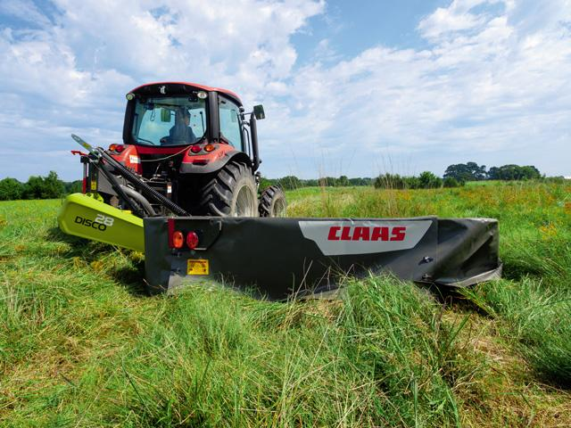 CLAAS's Disco 28 rear-mounted mower is one of three new DISCO products that boast a quick attachment system. (Courtesy CLAAS)