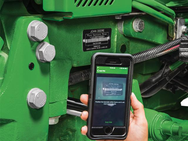 John Deere's TractorPlus App provides owners with convenient access to key parts of their operator's manual, to parts diagrams, and to parts ordering services. (Photo courtesy of John Deere)