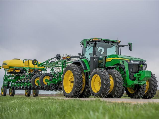 ACS 2 can make it easier to turn in the field or be set to provide more automotive-like steering during transport. (Photo courtesy of John Deere)