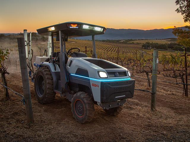 Monarch Tractor is the world's first electric, driver-optional, smart tractor manufacturer. The tractor looks similar to a compact tractor; it is narrower than a compact, but slightly longer. (DTN image courtesy Monarch Tractor)