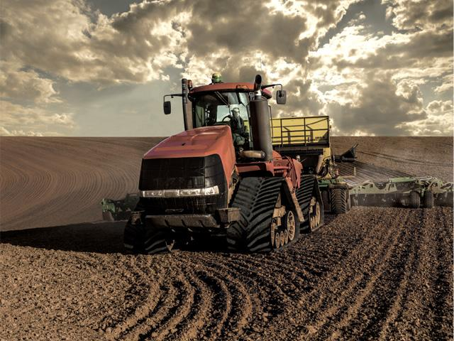 Firestone is offering a new line of field-tough tracks for the Case IH series of Quadtrac tractors. (Photo courtesy of Firestone Ag)
