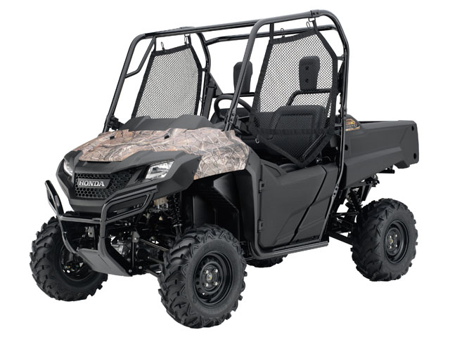 The new Pioneer 700 will be available in three colors: red, olive and Honda Phantom Camo. (Photo Courtesy Honda)