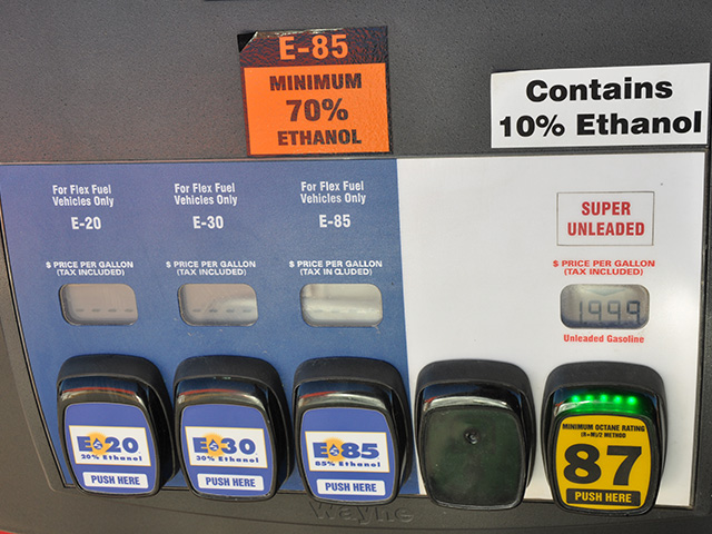 E15 is missing because of rules limiting E15 in summer months. E20 and higher are reserved for flex-fuel vehicles.