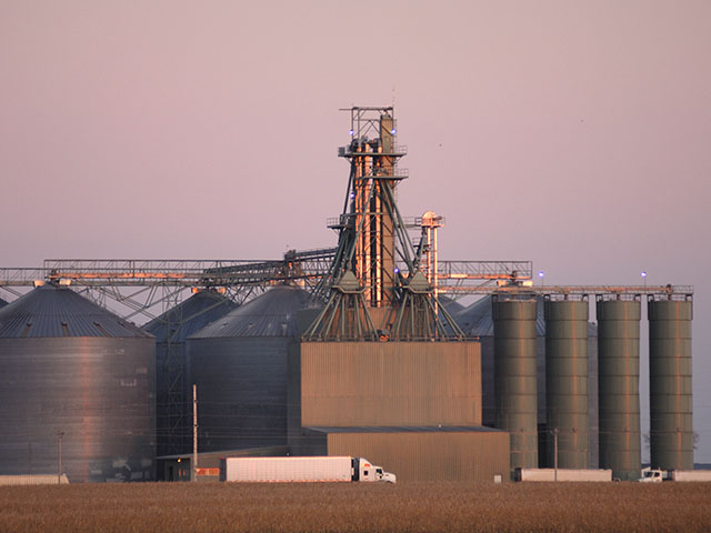 Pictured is Decoster Farms Feed Mill in Clarion, Iowa. (DTN/The Progressive Farmer photo by Jim Patrico)