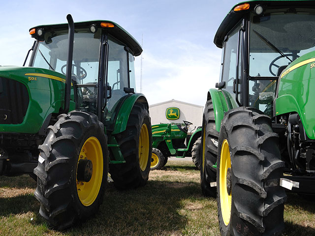 Some dealerships are overstocked with equipment because sales of most categories of farm equipment have slumped for almost two years. (DTN/The Progressive Farmer photo by Jim Patrico)