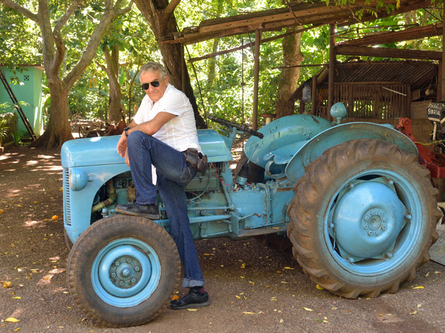 Elverterio Cordoba has had to be creative to keep a 1958 American tractor running on his Cuban farm. (DTN/The Progressive Farmer photo by Jim Patrico)