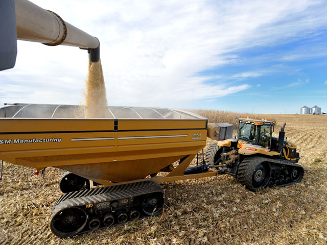 More farm equipment than ever rides on tracks, from tractors and combines, to grain carts and planters. DTN/The Progressive Farmer photo by Jim Patrico)