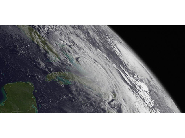 Hurricane Matthew, causing an estimated $10 bllion in damage along with 34 deaths in the U.S. and 551 fatalities in the Caribbean, was one of five land-falling storms in 2016. (NOAA image by Scott Kemper)