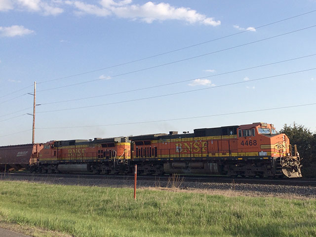 STB continues to explore the issue of making the rate-case process more accessible to all shippers who use rail as their mode of transportation. (Photo of BNSF train heading west on the Northern Transcon by Mary Kennedy)