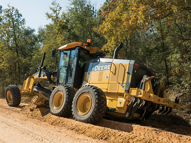 The 622GP Motor Grader is part of John Deere's construction catalogue. It will get some company soon as Deere agreed to buy the Wirtgen Group, a German firm that is a global leader in road building equipment. (Photo courtesy John Deere)