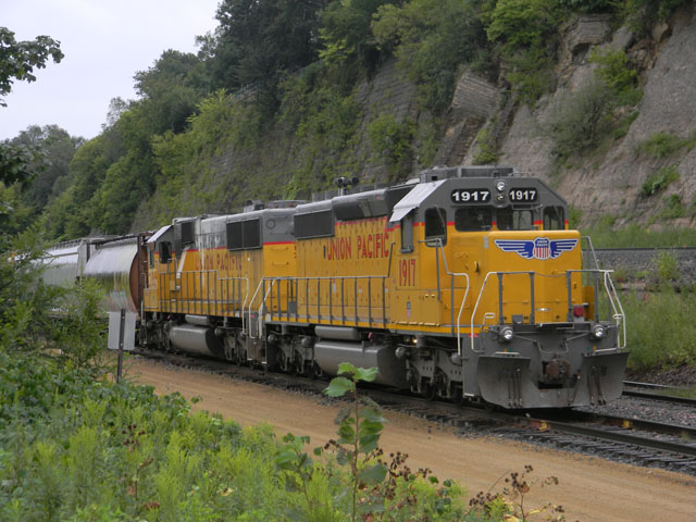 A Union Pacific train in St. Paul, Minnesota. During 2018, UP said it will continue to install and implement Positive Train Control across its network, with work during the first quarter focusing mainly in southeast Texas and New Mexico. (DTN photo by Mary Kennedy)
