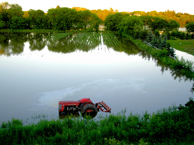 Exercise extreme caution when buying a tractor from a flooded area. (Photo by Getty Images)