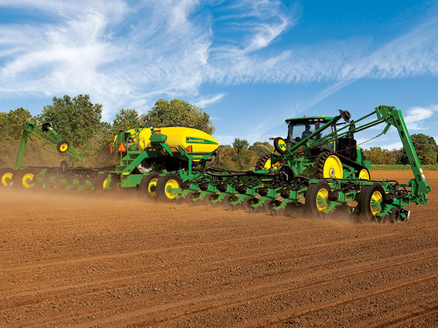 John Deere's ExactEmerge planting technology is at the center of its patent infringement lawsuit against Precision Planting and AGCO. (John Deere photo)