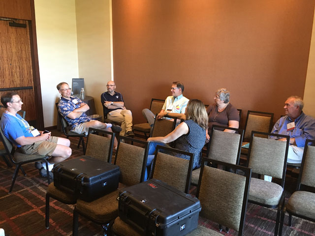 Ag press editors discuss readers concerns about coverage of the Trump administration at a recent professional association meeting. (DTN photo by Greg Horstmeier)