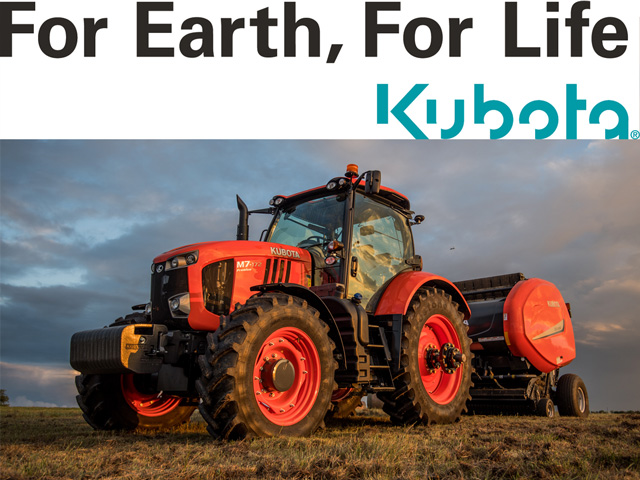 Kubota rolled out is new M7 Gen 2 tractor (shown here) at the National Farm Machinery Show in February. Now it has announced the coming production of a not-yet-revealed tractor able to perform significant row-crop work. (Photo courtesy of Kubota)