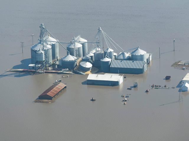 A flooded farm from the Midwest floods in March. (Photo courtesy of Joseph L. Murphy)