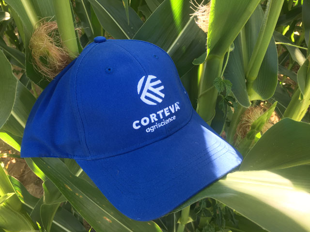 Corteva will wear its own hat after spinning off from DowDuPont on June 1. (DTN photo by Pamela Smith)