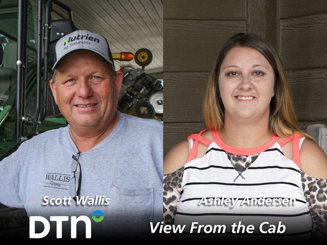 Each week Scott Wallis and Ashley Andersen reported on current field conditions and life on the farm. (DTN photos by Pamela Smith and Nick Scalise)