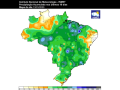 Almost all major crop areas of Brazil have had from 50-120 millimeters (4-8 inches) of rain in the past 10 days. (INMET graphic)