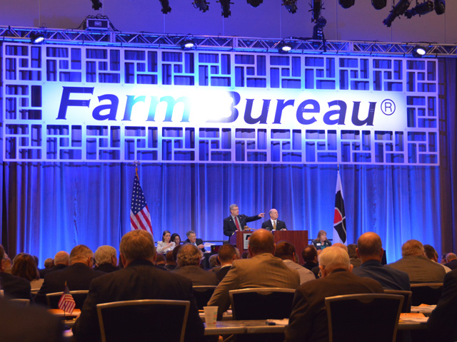 Delegates at the American Farm Bureau talked about an array of issues on Tuesday, ranging from climate change to feral hogs. (DTN photo by Chris Clayton)