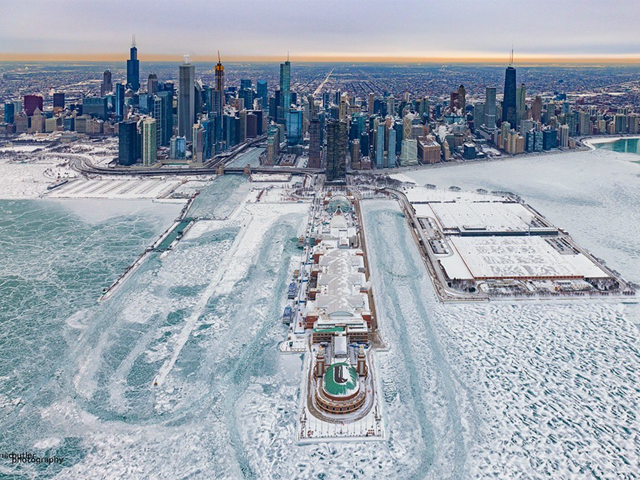 The frozen Lake Michigan shoreline in Chicago was just one of many not-to-be-forgotten developments when the polar vortex gripped the Midwest in late January 2019. (Photo by Barry Butler)