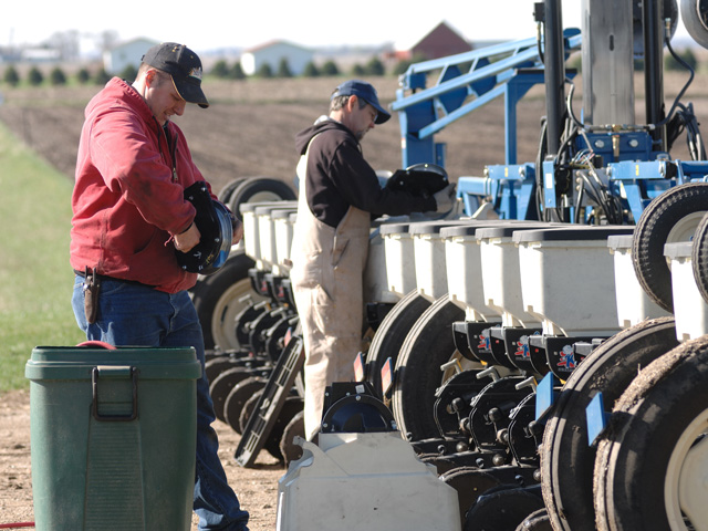 One thing planter operators should pay attention to is the soil-engaging components, according to Iowa State University Extension. (DTN file photo by Jim Patrico)