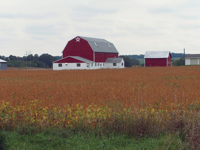A classic farmstead.  Property tax data from the Ag Census shows how property taxes paid by farmers ranges widely. (DTN file photo).