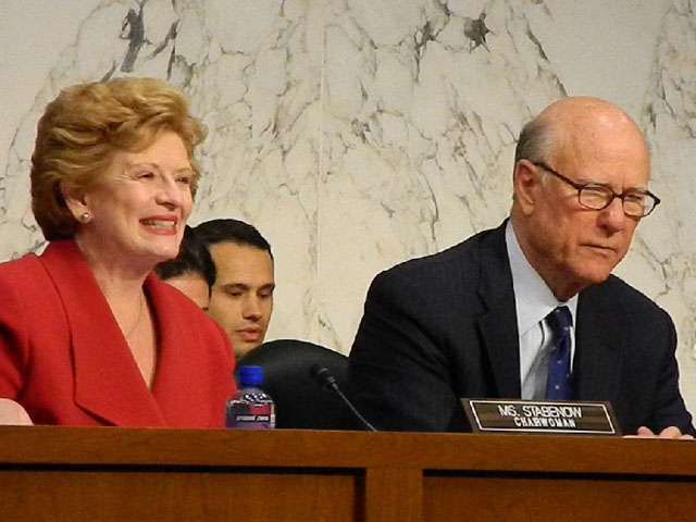 Sen. Debbie Stabenow of Michigan and Sen. Pat Roberts of Kansas held a farm bill hearing Saturday in Michigan. (DTN file photo by Chris Clayton)