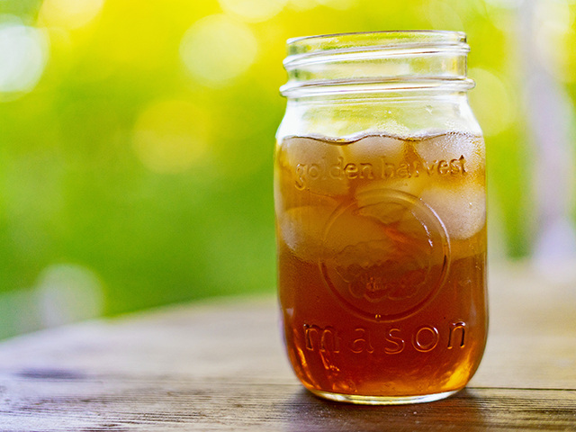 One of the welcome signs of summer is sweet tea from a mason jar. (DTN/Progressive Farmer photo by Meredith Bernard)