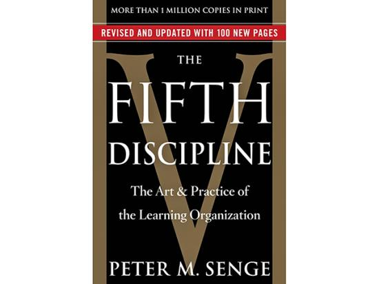 The Fifth Discipline by Peter M. Senge. (Image provided by the publisher)