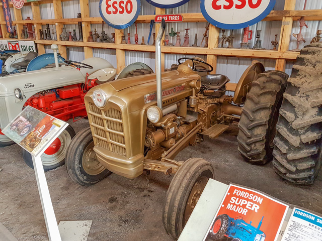 Ford Tractor dealers were supposed to have at least one Select-O-Speed demonstrator tractor painted gold on hand as a sales tool. (Photo by dave_7, CC BY 2.0)