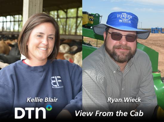 Farmers Kellie Blair of Dayton, Iowa, and Ryan Wieck, of Umbarger, Texas, are reporting on crop conditions and agricultural topics throughout the 2021 growing season as part of DTN's View From the Cab series.