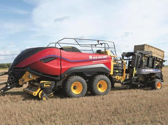 The design for the BigBaler High Density stems from nature, inspired by the flowing lines of crops as they sway in the fields. (Photo courtesy of New Holland Agriculture)