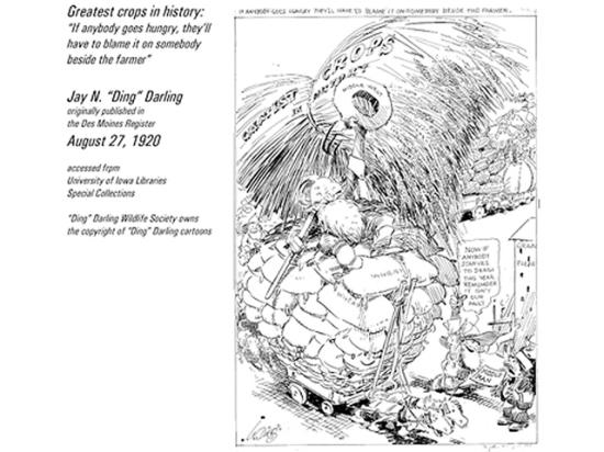 Illustration by J.N. Ding Darling editorial cartoon. Ding Darling Wildlife Society owns the copyright of Ding Darling cartoons.