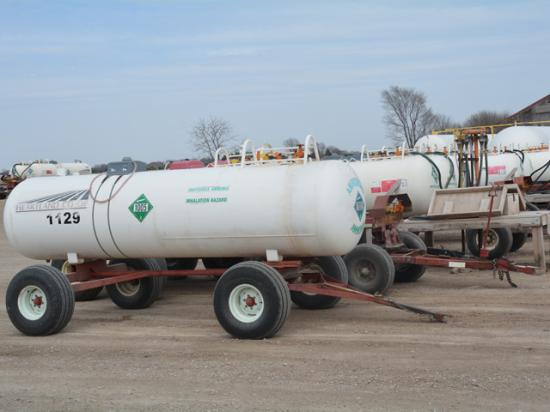 Retail anhydrous ammonia prices have doubled to nearly tripled in some areas. Supply concerns also exist. Both issues may tempt farmers to buy and apply more of the corn fertilizer this fall. (DTN photo by Matthew Wilde)
