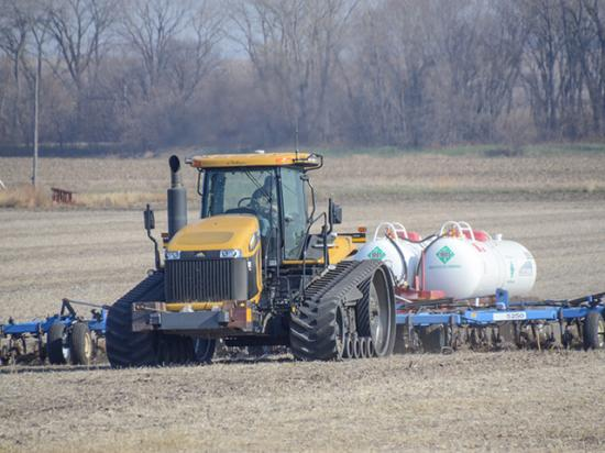 Those who work with anhydrous ammonia need equipment training and knowledge of personal protection equipment. (DTN file photo by Elizabeth Williams)