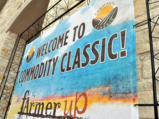 The logo and theme for Commodity Classic in 2017 in San Antonio, Texas. The event was scheduled to return to San Antonio again in 2021, but organizers announced Friday that Commodity Classic will be a virtual event during the first week of March in 2021. (DTN file photo)