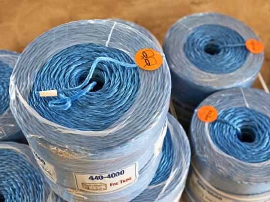 Plastic-based agricultural products, such as baler twine, could be in short supply or considerably more expensive this growing season thanks to a resin shortage. (DTN/Progressive Farmer photo by Joel Reichenberger)