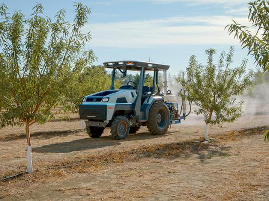 Electric tractors offer sustainability, but they must also offer economic benefit. Monarch Tractor says its units cut operating costs by $45 per day of operation compared to similarly sized diesel tractors. (DTN photo courtesy of Monarch Tractor)