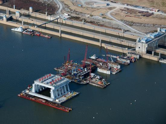 The House passed a waterways bill late Wednesday that includes funds for lock and dam repair. (Photo courtesy USACE Louisville District)