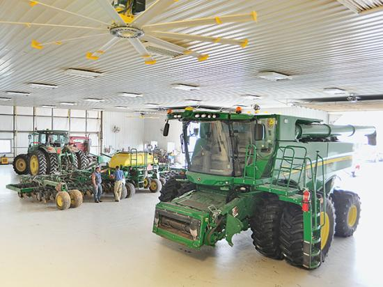 Joe Nichols and his partner Micheal Oliver never thought they would say their shop could have been bigger. But they do now. (Progressive Farmer photo by Jim Patrico)