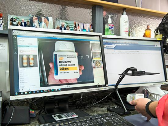 TelePharm software allows remote filling and approval of prescriptions. (Progressive Farmer photo by Mark Tade)